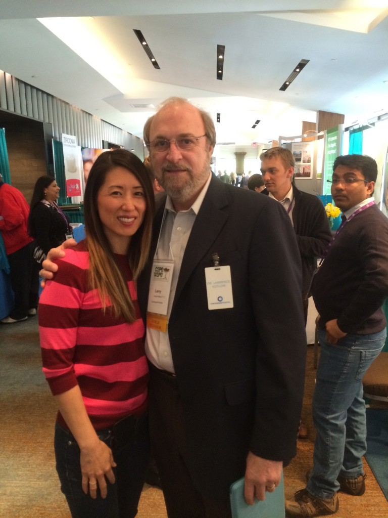 Dr. Chan with Dr. Kotlow at the 2014 California Society of Pediatric Dentistry meeting in Monterey, California.