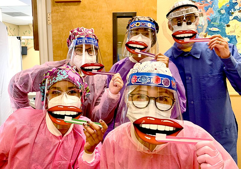 Healthy Grins Team Wearing Masks
